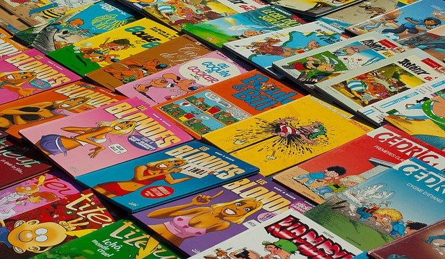 bundle of comic books
